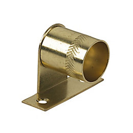 Colorail Brass Effect Centre Bracket (Dia)19mm, Pack of
