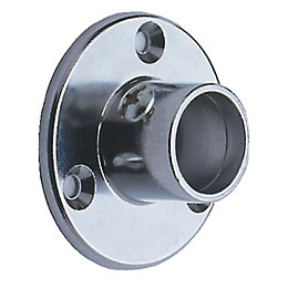 Colorail Chrome Effect Rail Socket (Dia)25mm, Pack of