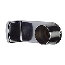 Colorail Chrome effect End bracket (Dia)25mm, Pack of