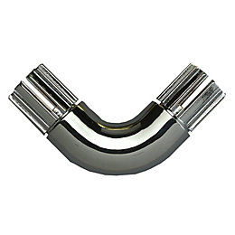 Colorail 90° Chrome Effect Elbow (Dia)19mm