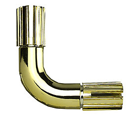 Colorail 90° Brass Effect Elbow (Dia)19mm