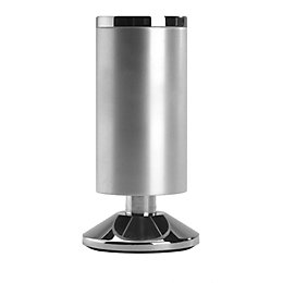 Rothley (H)120mm Aluminium Effect Silver Satin Designer Leg
