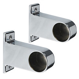 Colorail Chrome End Bracket (Dia)32mm, Pack of 2