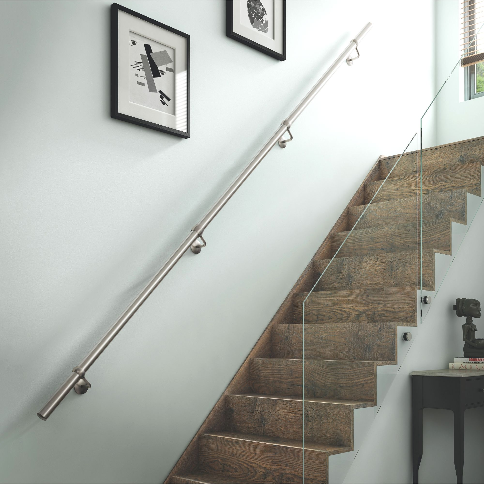 Stainless Steel Handrail Kit L 3600mm Departments Diy