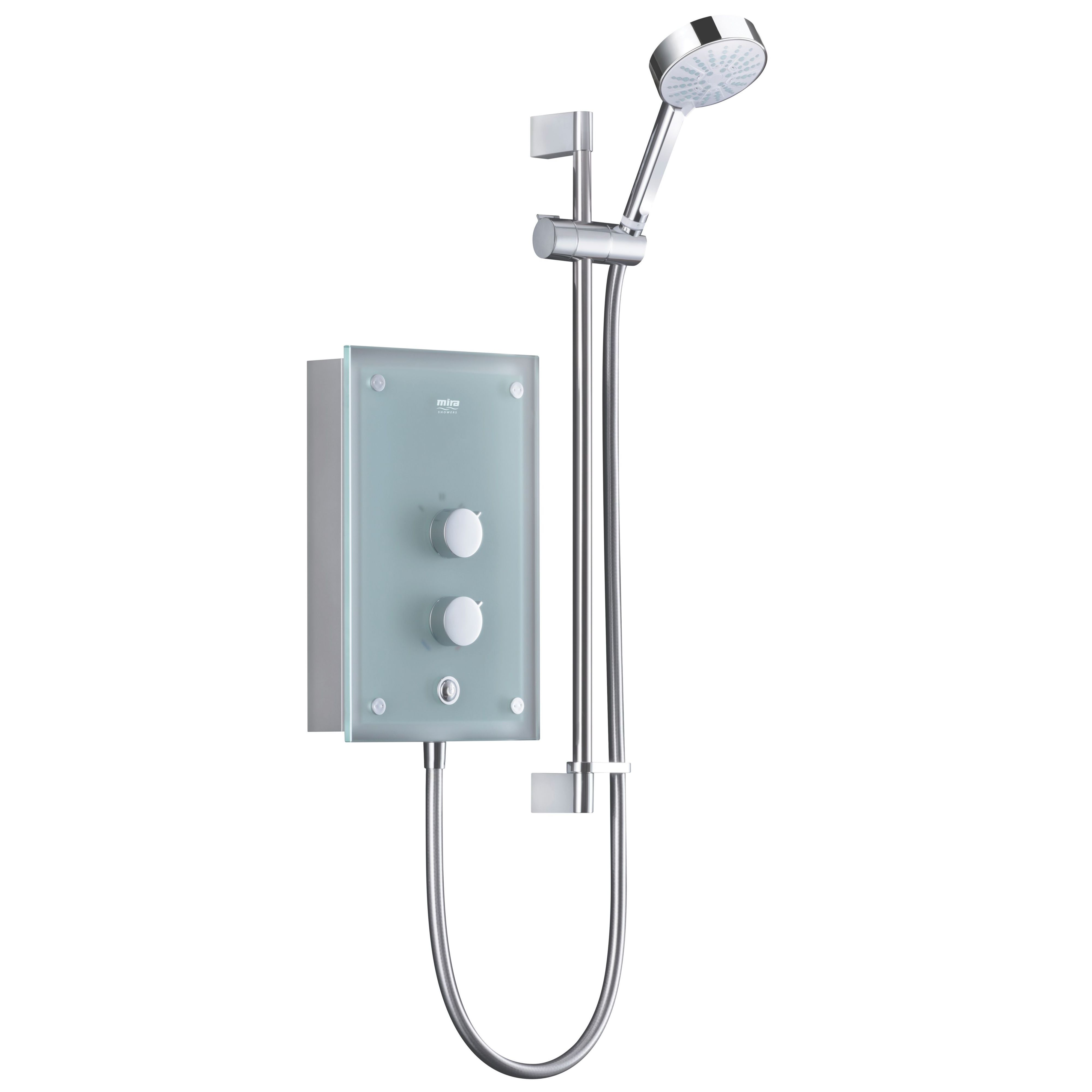 Mira Azora Frosted glass Electric shower, 9.8 kW | B&Q