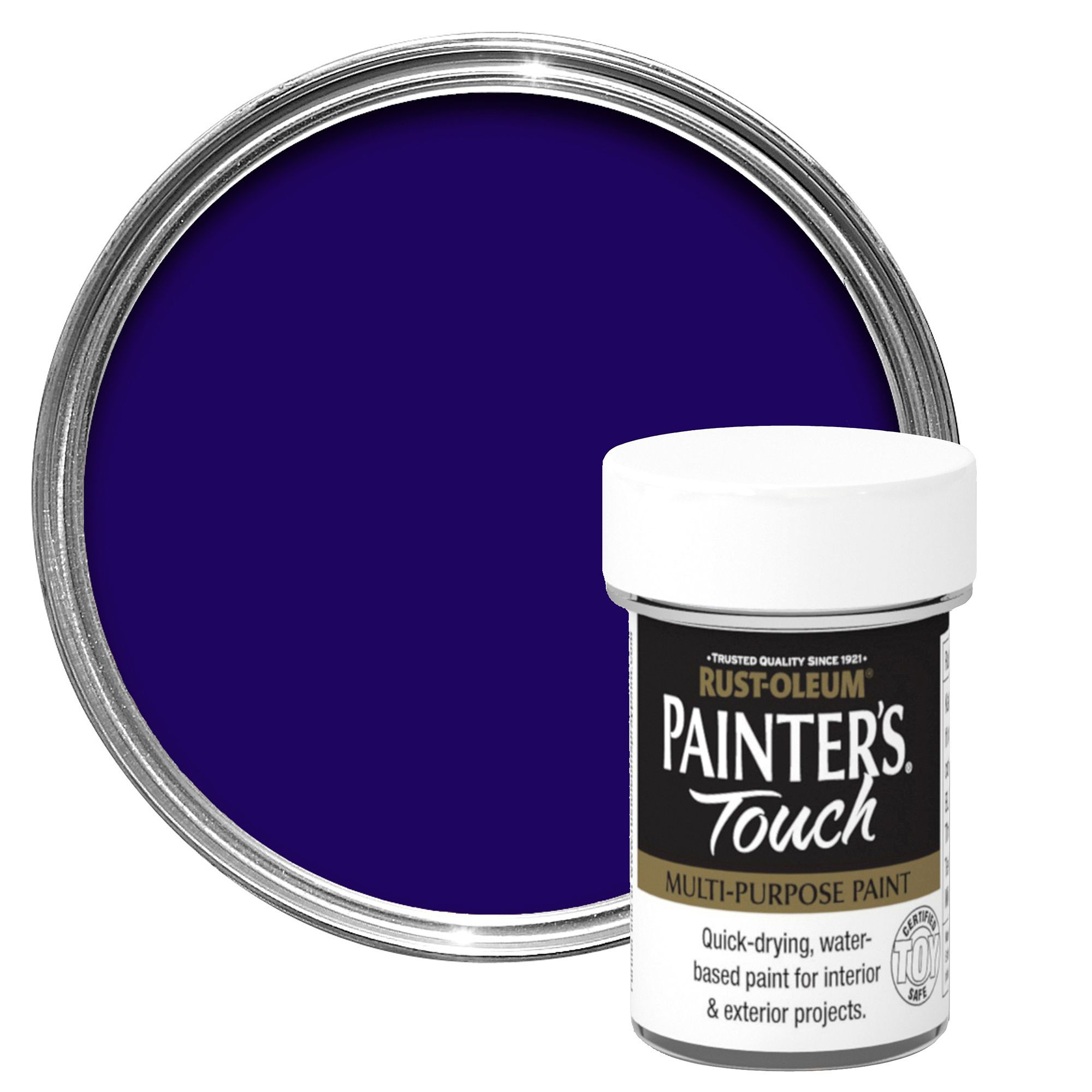 Purple-Exterior-Gloss-Paint. Rust Oleum Painters Touch Interior Exterior Indigo Gloss Multipurpose Paint 20ml Departments Diy At Bq