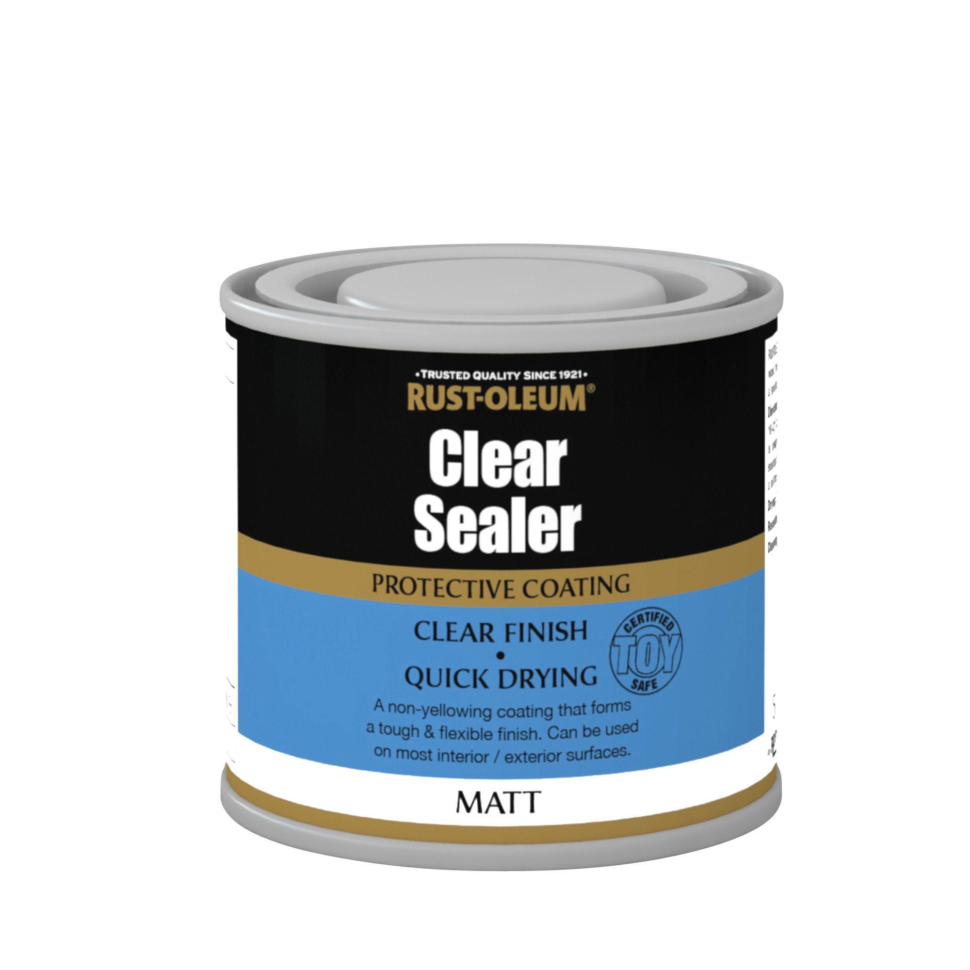 Rust-Oleum Clear Matt Sealer 0 13L | Departments | DIY at B&Q