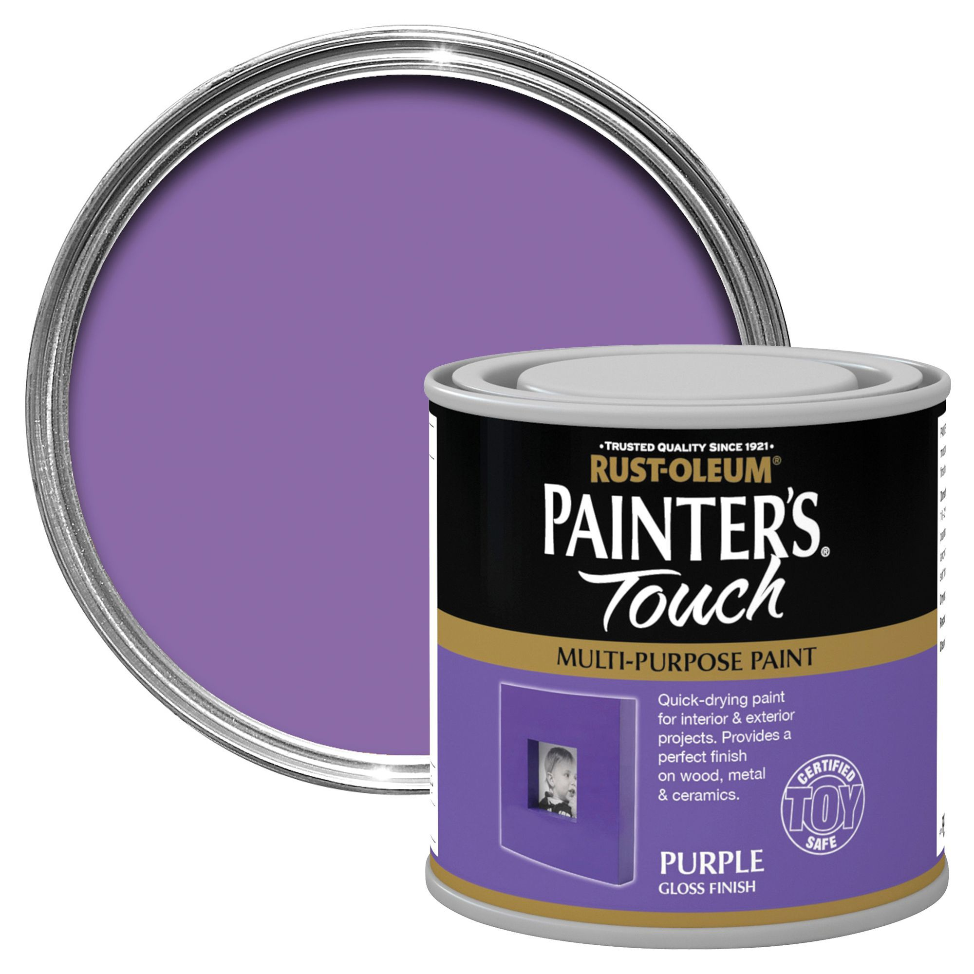 Purple-Exterior-Gloss-Paint. Rust Oleum Painters Touch Interior Exterior Purple Gloss Multipurpose Paint 250ml Departments Diy At Bq