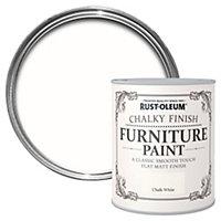 Rust-Oleum Chalk white Chalky Matt Furniture paint 125 ml