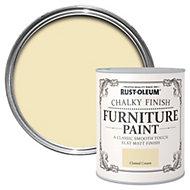 Rust-Oleum Clotted cream Chalky Matt Furniture paint 125 ml