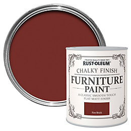 Rust-Oleum Fire brick Matt Furniture paint 750 ml
