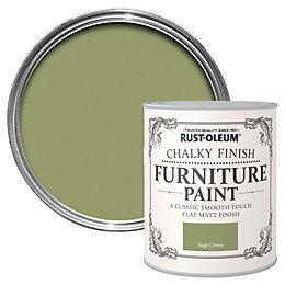 Rust-Oleum Sage green Matt Furniture paint 750 ml
