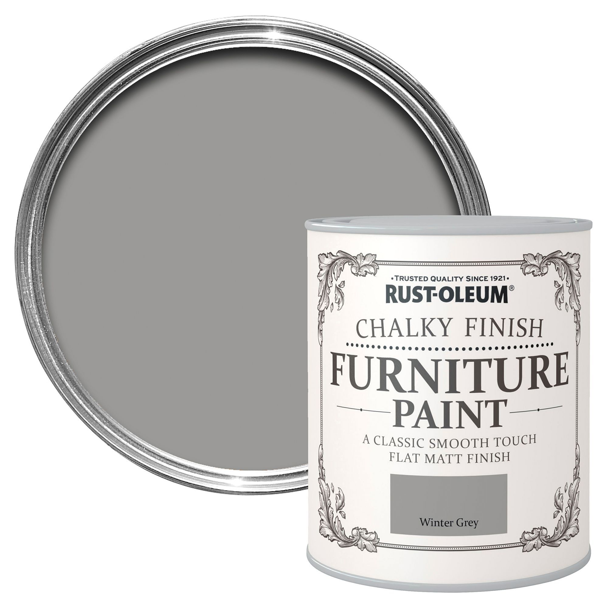 Rust Oleum Winter Grey Chalky Matt Furniture Paint 750 Ml | Departments |  DIY At Bu0026Q