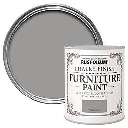 Rust-Oleum Winter grey Chalky Matt Furniture paint 125