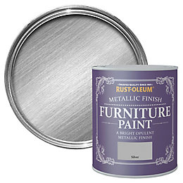 Rust-Oleum Silver Metallic Furniture paint 125 ml