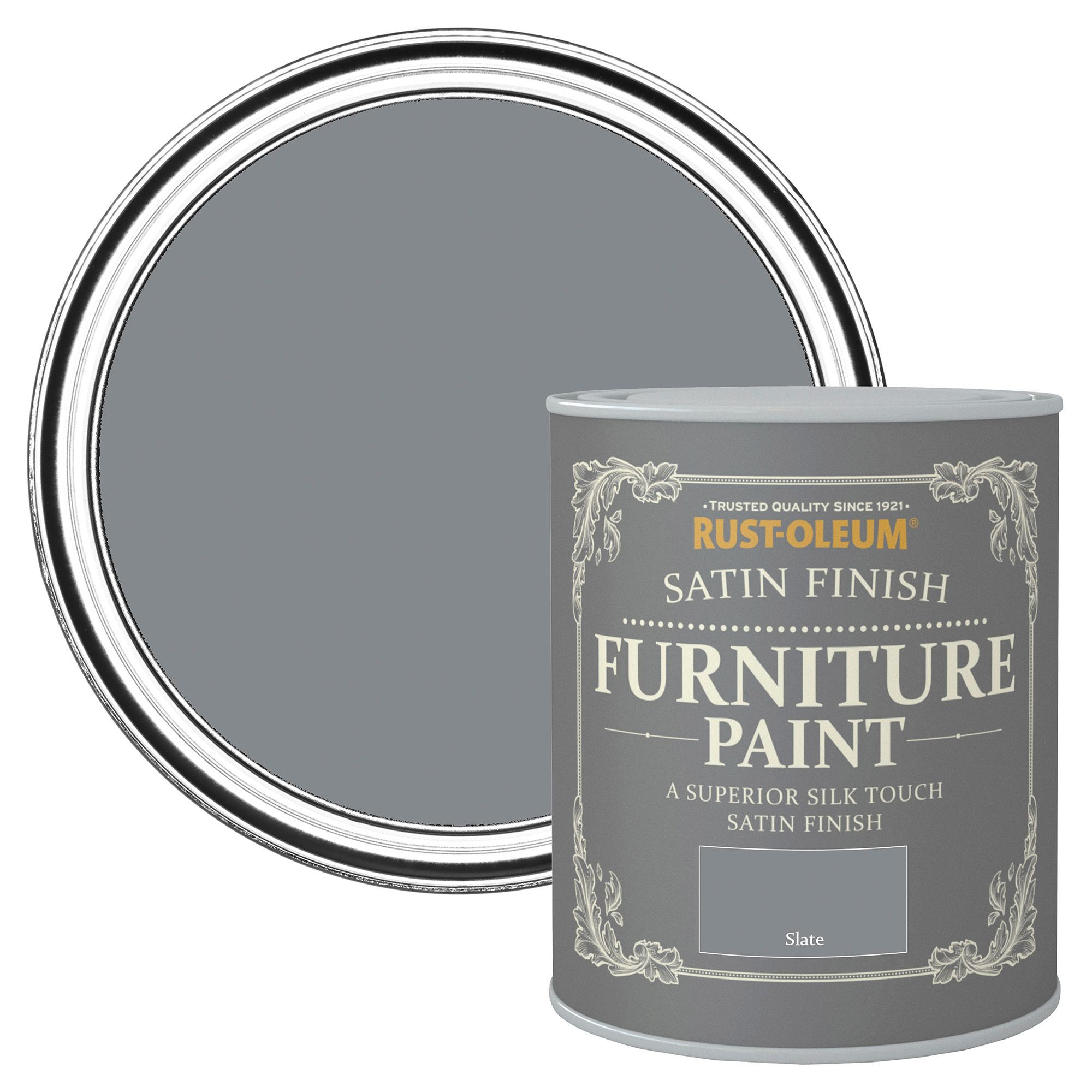 rust oleum rust oleum slate satin furniture paint 750 ml. Black Bedroom Furniture Sets. Home Design Ideas