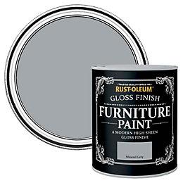 Rust-Oleum Mineral grey Gloss Furniture paint 125 ml