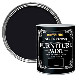Rust-Oleum Liquorice Gloss Furniture paint 750 ml