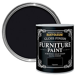 Rust-Oleum Liquorice Gloss Furniture paint 125 ml
