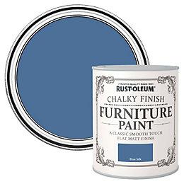 Rust-Oleum Blue silk Flat Matt Furniture paint 750