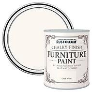 Rust-Oleum Chalk white Chalky Matt Furniture paint 2.5L