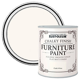 Rust-Oleum Chalk white Chalky Matt Furniture paint 2.5L