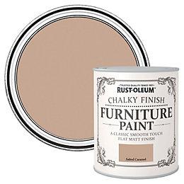 Rust-Oleum Salted caramel Flat Matt Furniture paint 750