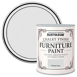 Rust-Oleum Winter grey Flat Matt Furniture paint 2.5L