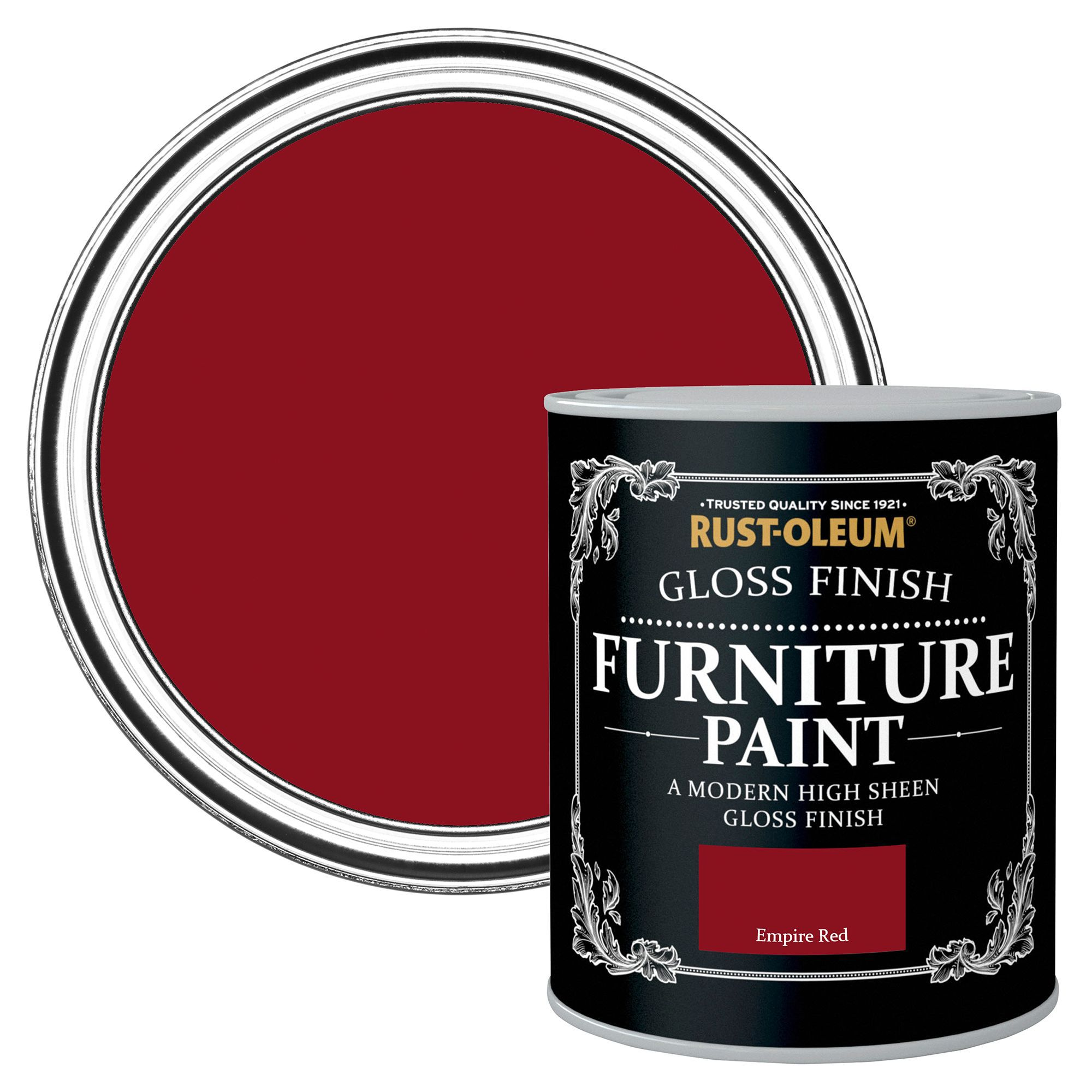 Rust Oleum Empire Red Gloss Furniture Paint 125 Ml Departments Diy At B Q