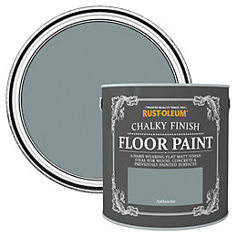 Rust-Oleum Anthracite Flat Matt Floor paint 2.5L