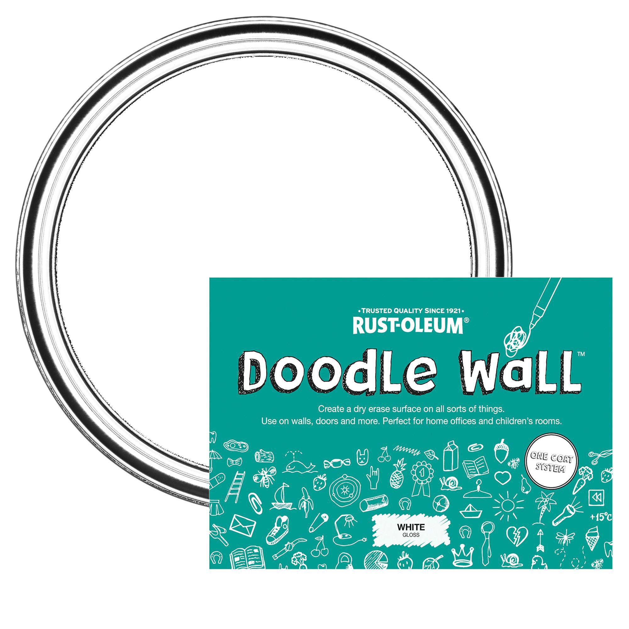 Rust-Oleum Doodle wall White dry Gloss Erase paint kit 500 ml ...