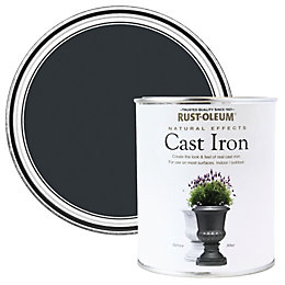 Rust-Oleum Cast iron Matt Natural effect paint 250