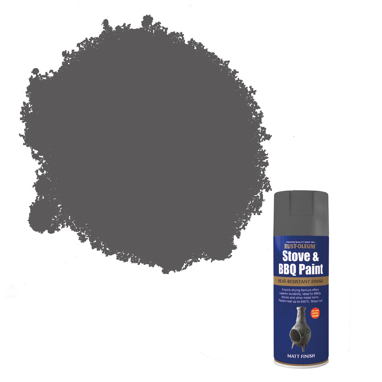 Rust Oleum Stove Amp Bbq Cast Iron Metallic Effect Matt