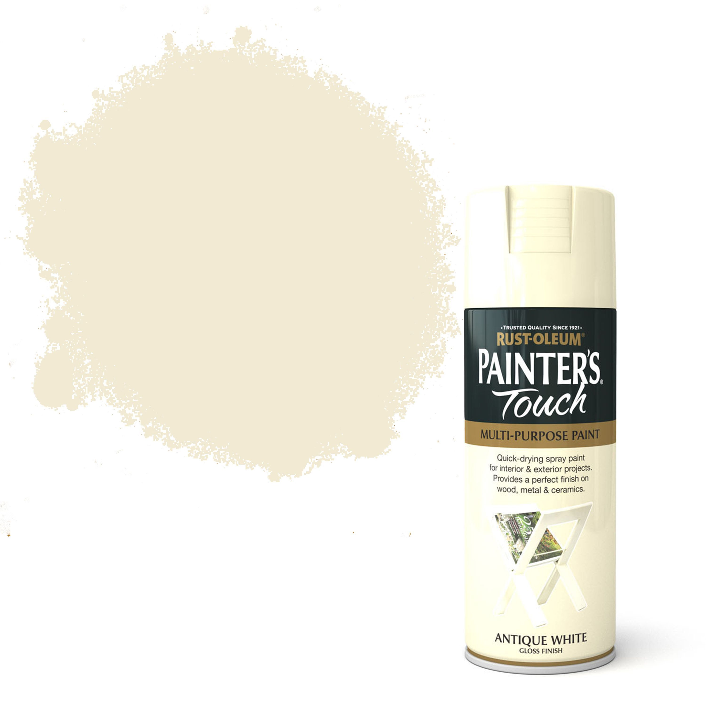 Rust Oleum Painter S Touch Antique White Gloss Decorative Spray Paint 400 Ml