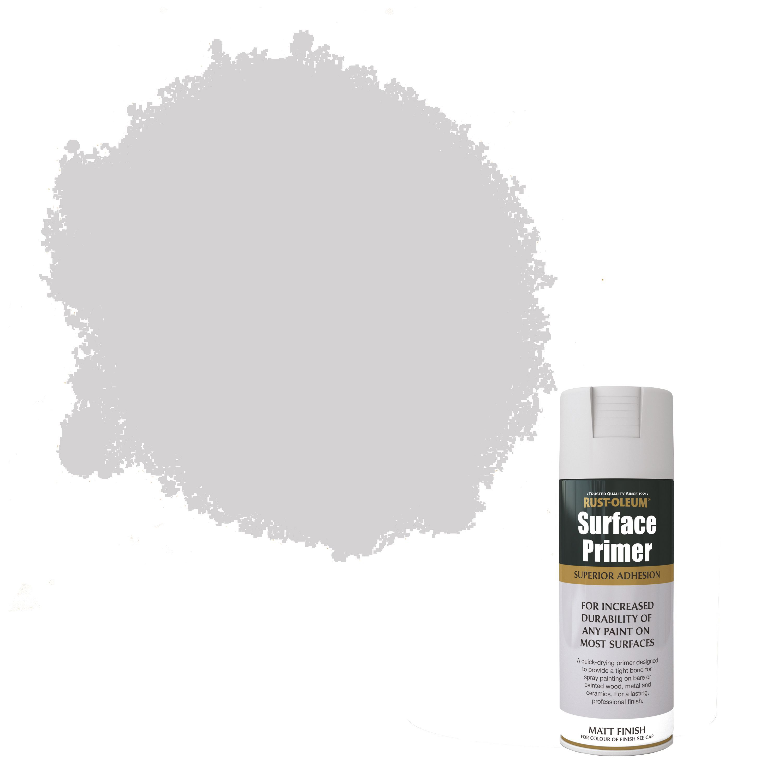 Rust Oleum Hard Hat Primer.Rust Oleum Surface Primer Grey Matt Spray Paint 400 Ml Departments
