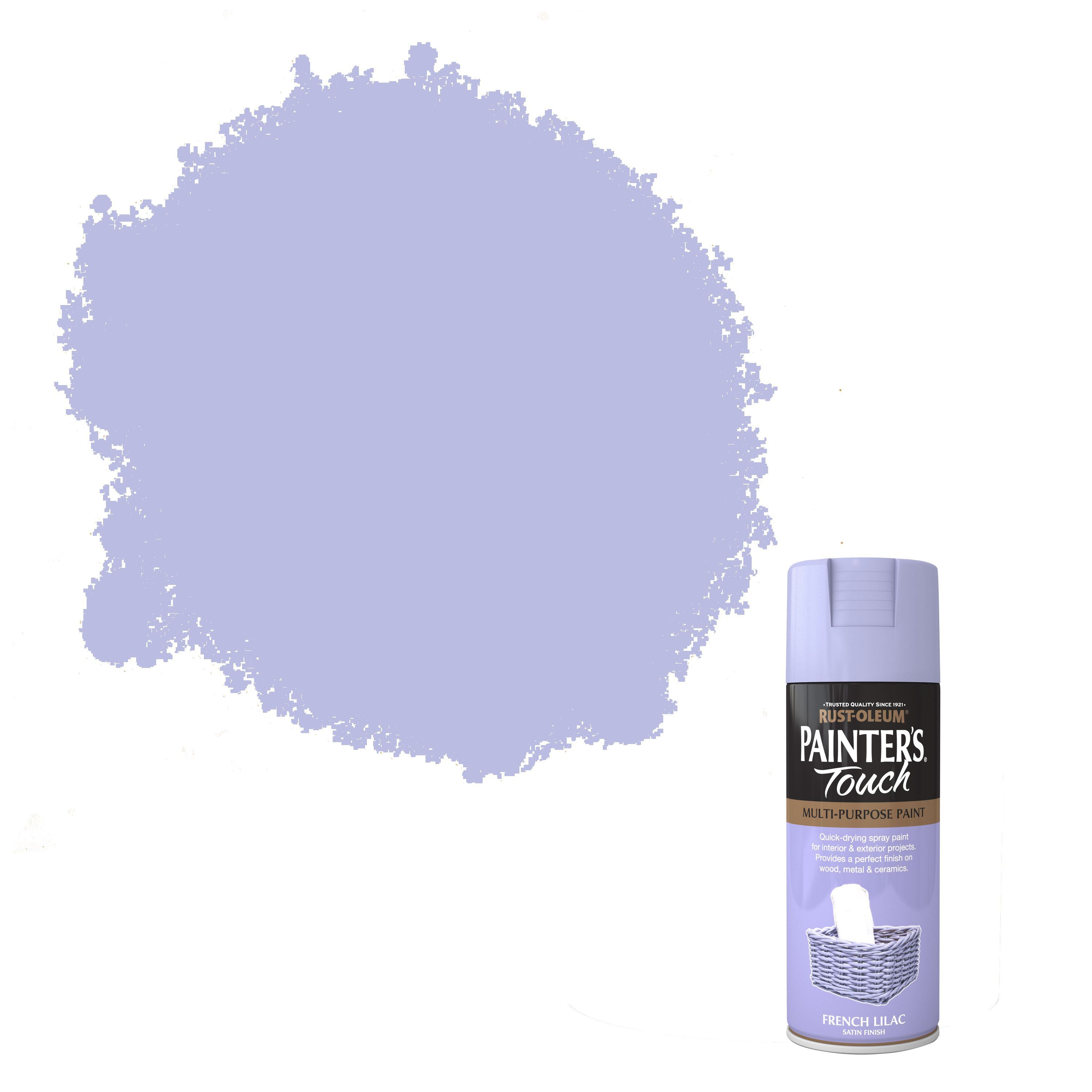 Rust Oleum Painters Touch French Lilac Satin Effect Satin Decorative Spray