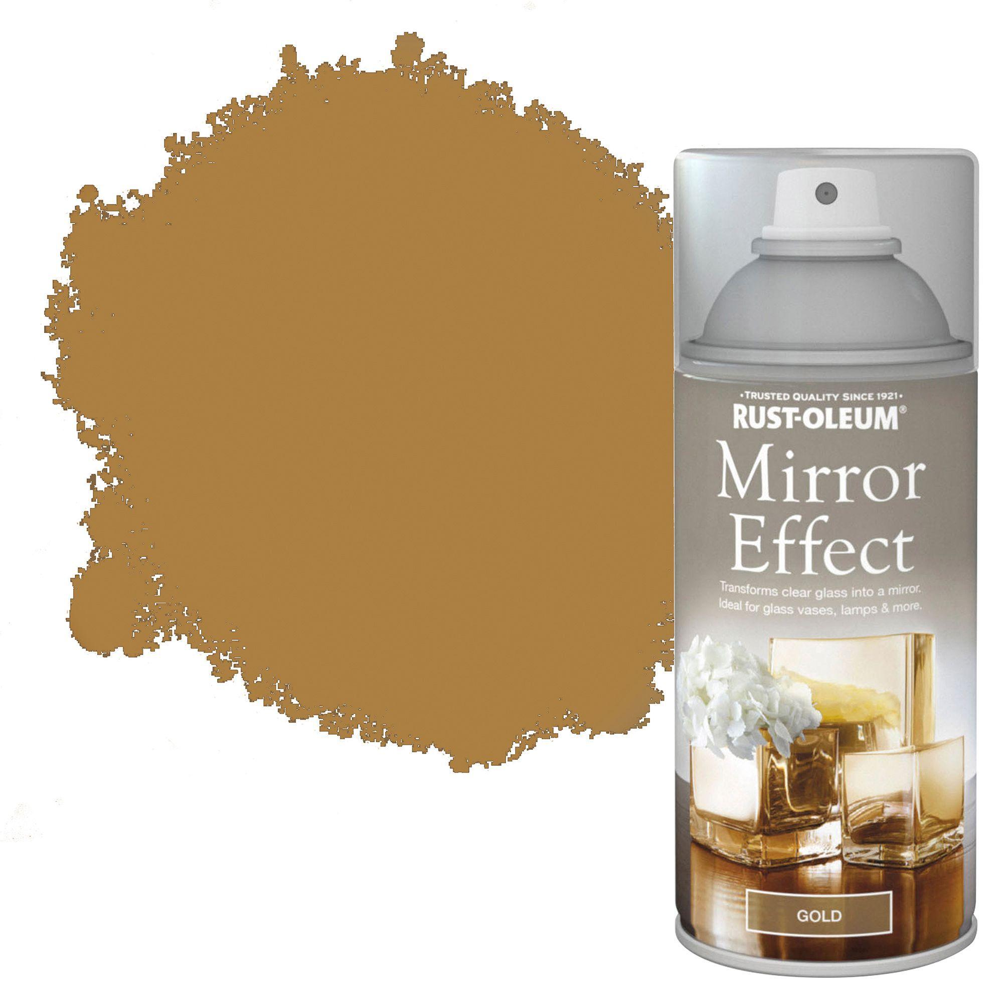 Rust oleum gold metallic effect mirror spray paint 150 ml for Mirror spray paint