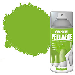 Rust-Oleum Lime green Matt Peelable spray paint 150