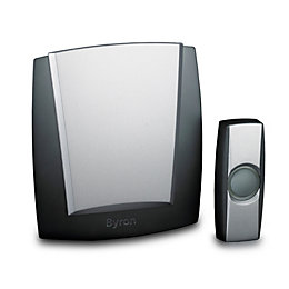 Byron Wirefree Black Portable Door Chime