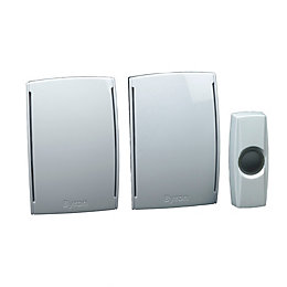 Byron Wirefree White Door Chime