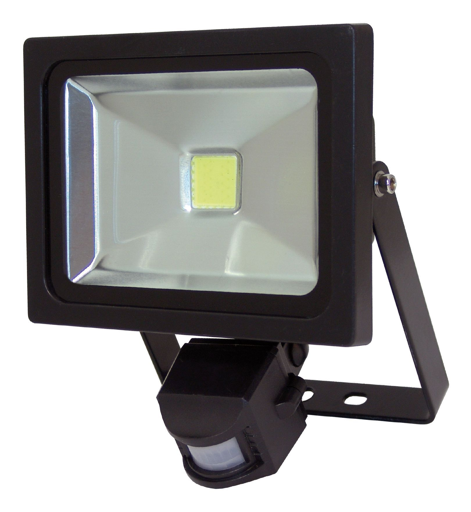 Outdoor Security Lights B Q: XQ-Lite Black 20W Mains Powered External PIR Security