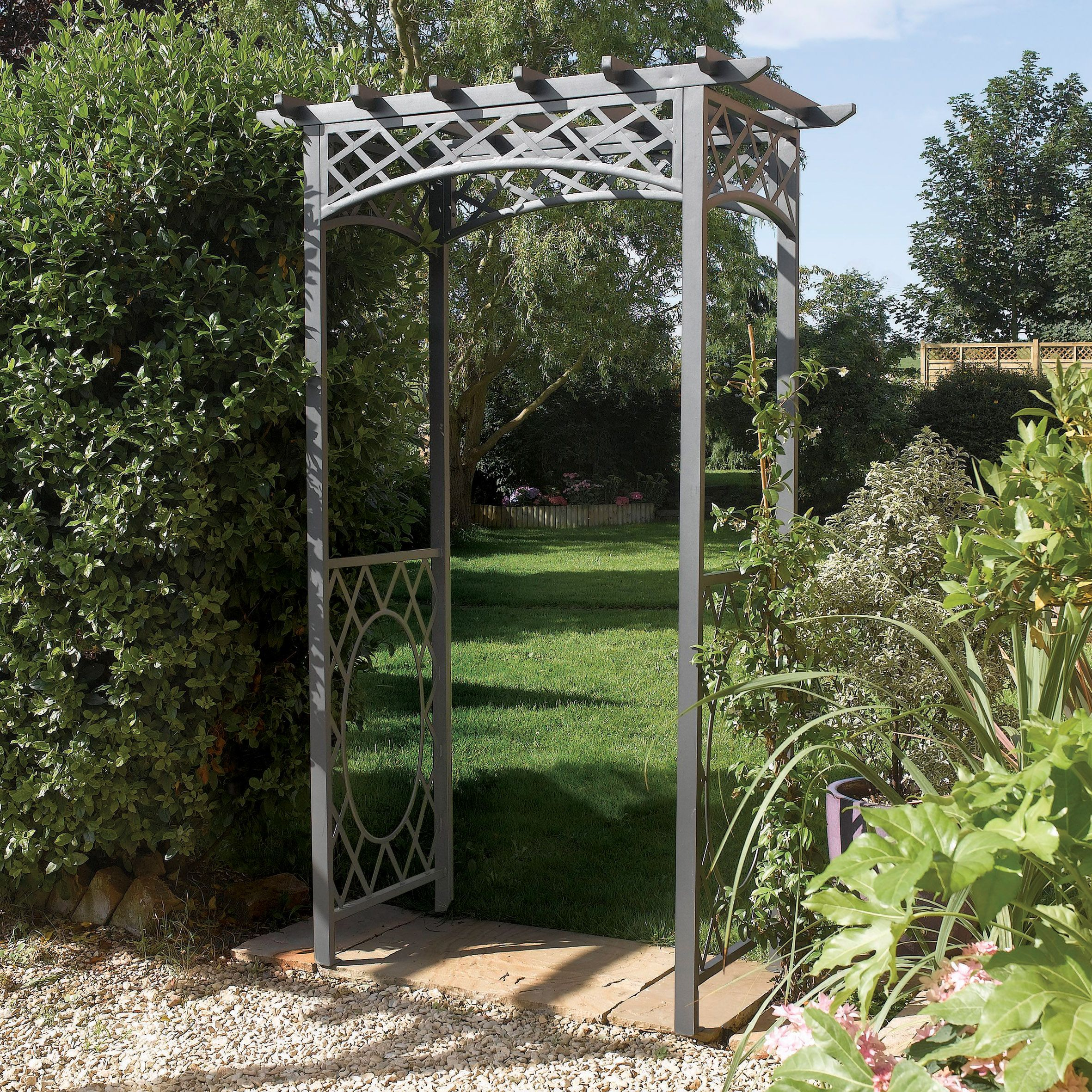 westminster archway amazon arch high gardman com wide outdoor garden arbors x dp
