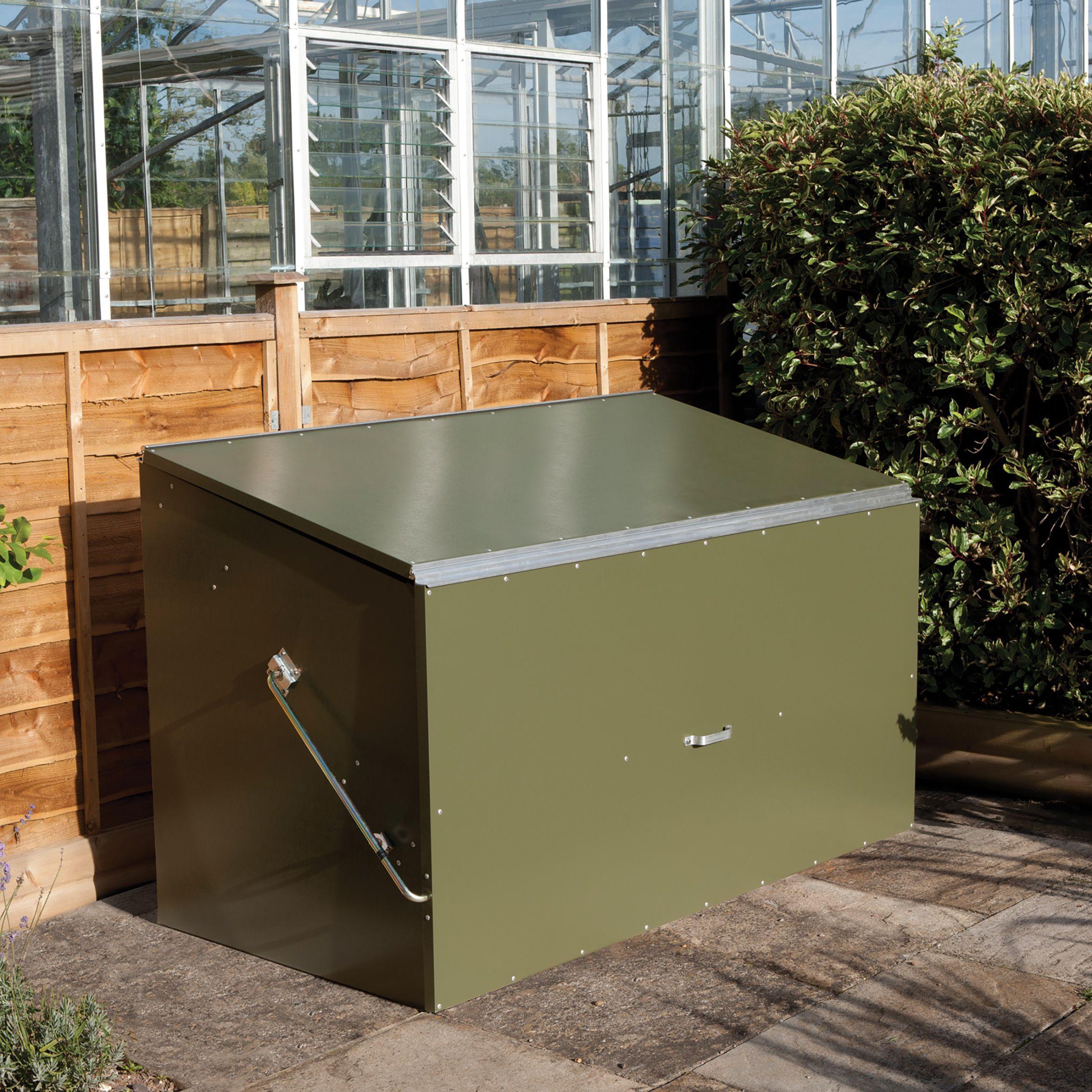Kitchen Garden Box With Wire Top: Pent Metal Garden Storage Box 6x3