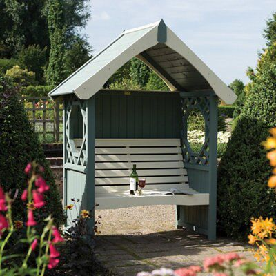 Rowlinson Softwood Arbour Departments Diy At B Amp Q