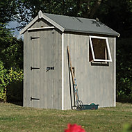 6x4 Heritage Apex roof Vertical Wooden Shed