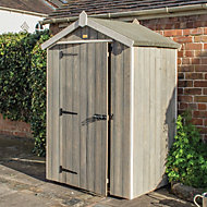 4x3 Heritage Apex roof Vertical Wooden Shed