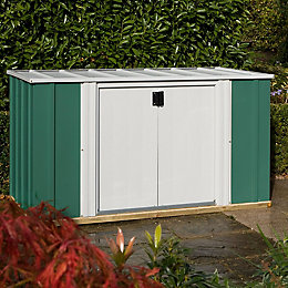 6x3 Greenvale Pent Metal Shed With assembly service