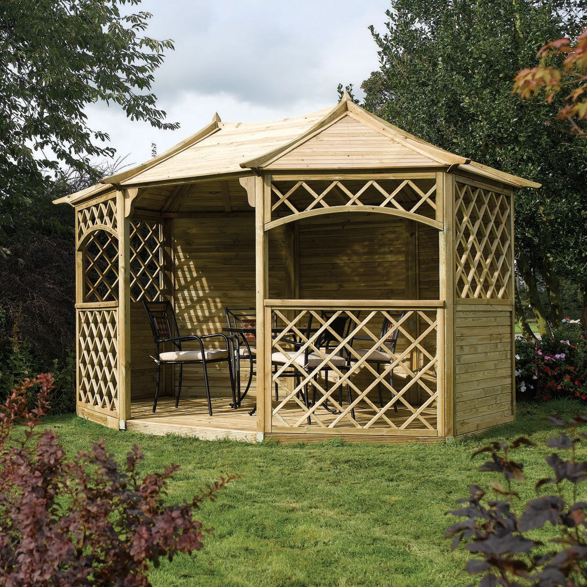 Rowlinson Sandringham Natural Gazebo with Assembly Service ...