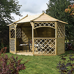 Rowlinson Sandringham Natural Gazebo with Assembly Service