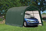 15x10 Shelterlogic Round top Tubular steel frame Auto Shelter